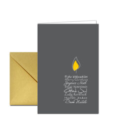 Weihnachtskarte Kerzentext